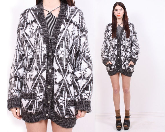 SALE - Graphic Oversized Cardigan