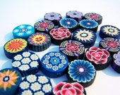 22 Millefiori Clay Beads