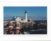 Portrait at the Lighthouse - sockmonkeycards