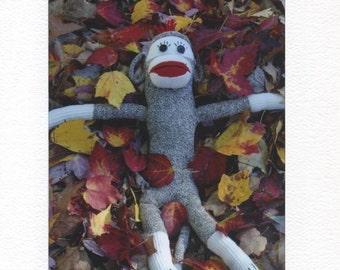 Sock Monkey Fall Fun card