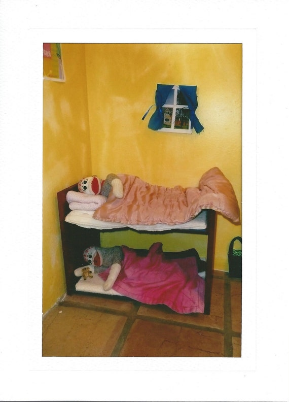 Sock Monkey Bunk Beds Card