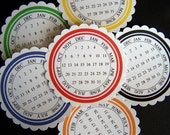 PRIMARY COLORED CALENDAR TAGS scrapbooking embellishments