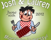 Personalized BBQ moist towelette