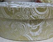 Bridal Keepsake Memories Box in Ivory Silk Brocade