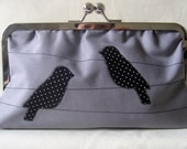 The Grey and Black Polka Dot Birds Clutch