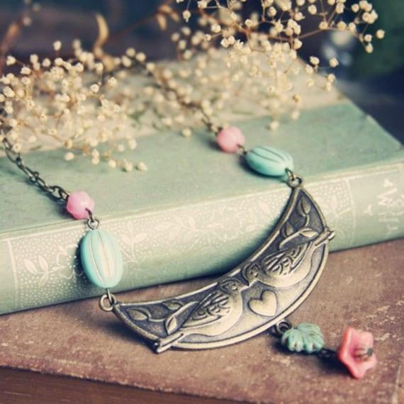Spring Lovebirds Necklace