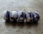 Periwinkle Branches Disk Beads