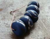 Midnight Willow Disk Beads