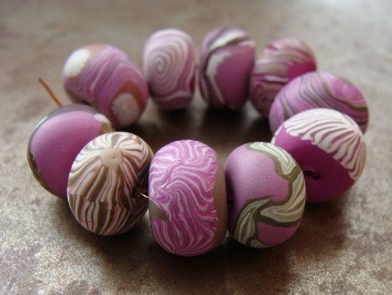 First Blush Disk Beads