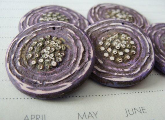 Sale - Purple Poppy Pendant