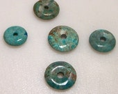 Turquoise Donut Small 1 pc 16mm