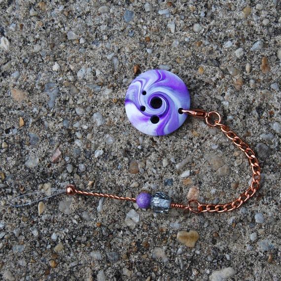 Spinner's DIZ & Threader - Purple Swirl Polymer Clay - No 1