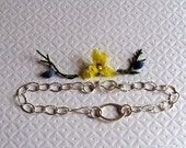 Oval Bracelet Sweet Sterling Silver Ellipse and a Handcrafted Clasp Last One on sale
