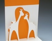 Happy Giraffes Pop-Up Card