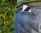 Recycled Sail Cloth Wallet - Black Stripe