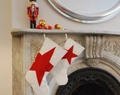 Eco Holiday Sail Stocking - Small Stocking with Red Star