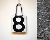 Recycled Sail Tote - Black Number 8