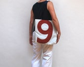 Reiter8 Recycled Sail Tote - Red Number 9