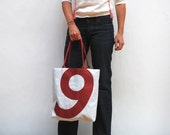 Recycled Sail Cloth Bag  - Red Number 9