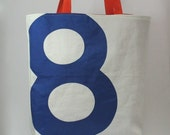 Reiter8 Recycled Sail Tote - Blue Number 8
