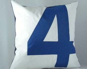 Sail Pillow - Blue Number 4 Denim backed