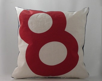 Reiter8 Recycled Sail Red 8 Pillow
