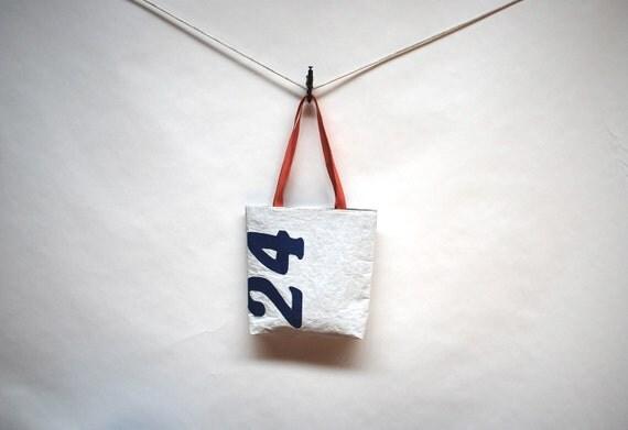 Upcycled Sail Bag - Blue 24