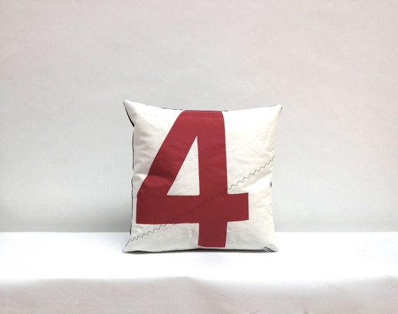 Sail Pillow - Red Number 4