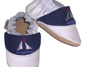 Nautical Mile - 4 Sizes Infant to Toddler - Soft Sole Baby Shoes - Genuine Leather Shoes