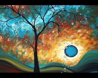 Abstract Landscape Signed Prints from Painting Colorful Whimsical Unique Art Contemporary Style by Megan Duncanson of MADART Studios