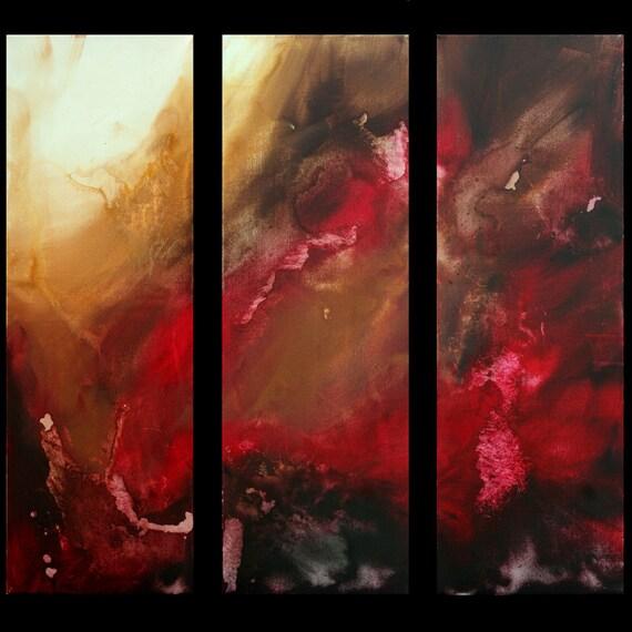 Huge Abstract Contemporary Original Painting Artwork Modern Art MADART on Etsy -  36x36 - The Rush