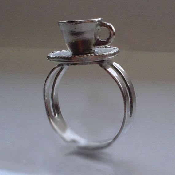 Miniature Tea Cup Ring