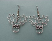 MOOSE EARRINGS wire wrapped nickle-free