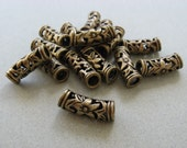 6 Brass flower TUBES 1 inch strong GOOD QUALITY