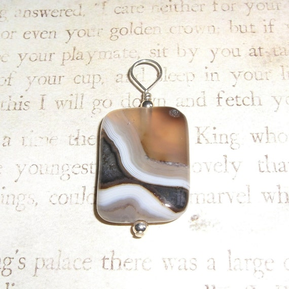 Beautiful stone pendant with sterling silver