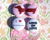 Dachshund Magnet set that is long on love Black and Tan
