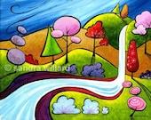 Cool Water - Original Painting by Sandra Willard