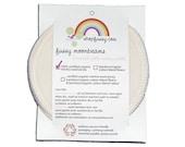 EXTRA ABSORBENCY Moonbeams - Organic Bamboo Velour / Organic Wool Cloth Nursing Pads (one pair)