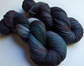 Hand Painted Merino and Silk Lace Weight -- Starlight (100g-1312yds)