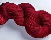 Hand Painted Superwash Merino DK -- Cranberry (Extra-Lg 120g/282yd skein)