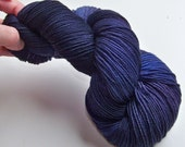 DISCOUNT 20% Off -- Hand Painted 2-Ply Superwash Merino Sock/Fingering -- Royal BlueBerry