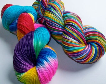 Hand Painted Superwash Merino/Nylon 2-Ply Sock/Fingering -- Let's Blow This Popsicle Stand