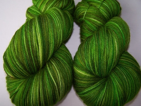 Handpainted Ultra Merino Superwash Sock Yarn -- The Lettuce Lesson