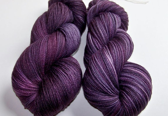 Hand Painted Merino and Silk Lace Weight -- Royalty (100g-875yards)