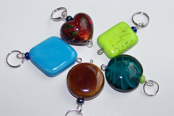 Hand Made Stitch Markers -- Big Bold and Beautiful