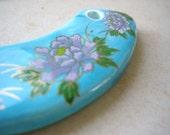 Vintage exquisite large porcelain pendant - Japan