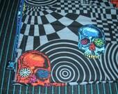 Crazy Skulls Baby Blanket