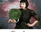 HAUTEINDISCRETION Black Goth Victorian Wedding Dress  XS - S