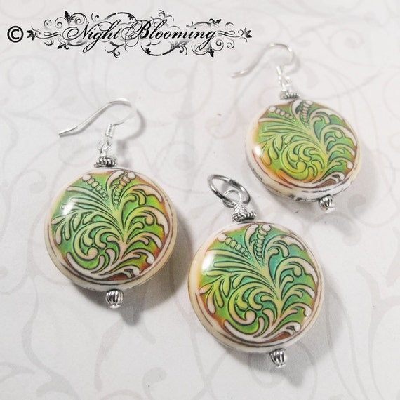 CUSTOM ORDER for AeonF- Faerie Glamour Color-Changing Earrings & Pendant