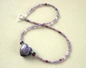 SALE - Vintage amethyst necklace - SALE